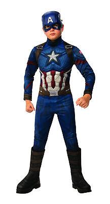 Baby Captain America Costume (Kids Avengers Endgame Deluxe Captain America Child Costume - Officially)