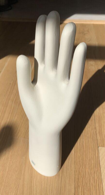 Vintage Ceramic Hand Form, Glove Mold