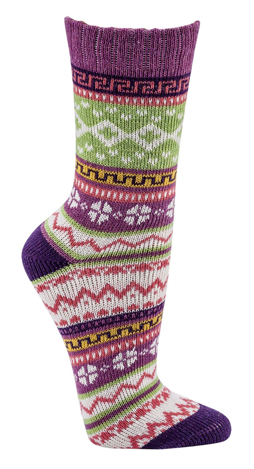 Damen & Teens Bunte Norweger Socken * 3er-Bündel * Socken mit Schafwolle CH-2217