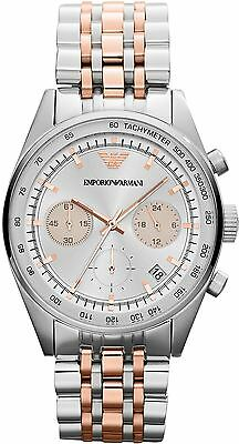 Emporio Armani Ladies' Sportivo Rose Gold & Silver Tone Designer Watch AR6010