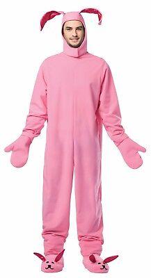 Rasta Imposta Christmas Bunny Suit Pink Adult Mens Halloween Costume GC-2900 - Pink Bunny Suit Costume