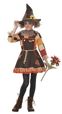 Child Patchwork Scarecrow Girl Costume  - Kids Scarecrow Costumes