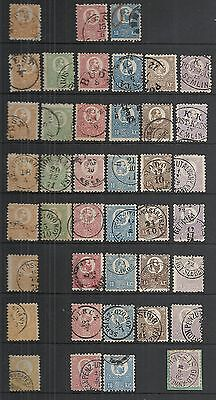 Hungay 1871 MI 1-6 Specialised  SHADES / CANCELS  HUGH Value!