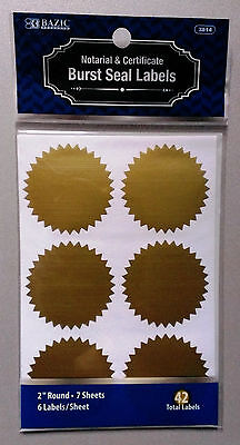 Notarial & Certificate Gold Seals 2