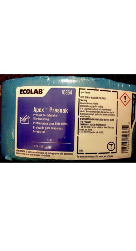Fresh & Sealed. Ecolab # 10364 Apex Presoak Detergent. Solid 4lb. Block. (Blue).
