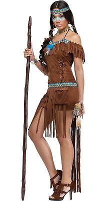 Medicine Woman Pocahontas Sacagawea Indian Erwachsene Damen Kostüm Prty ()