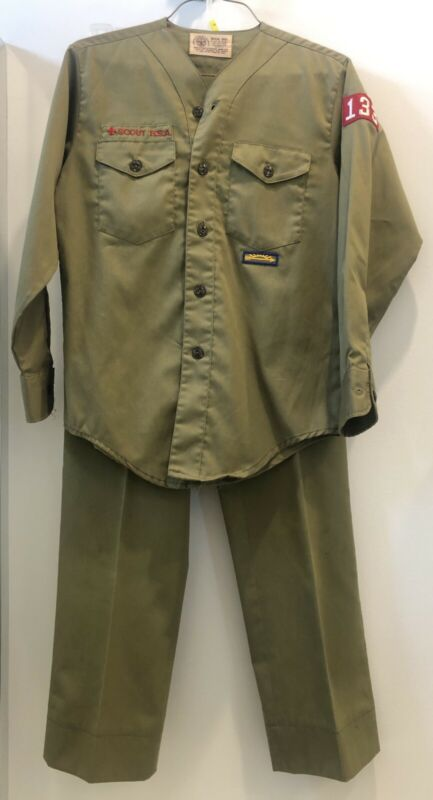 Boy Scouts of America Official Shirt Collarless Long Sleeve Shirt & Pants