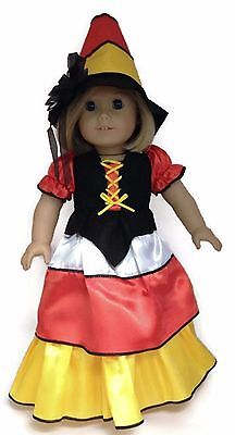 Halloween Candy Corn Witch & Hat Costume made for 18