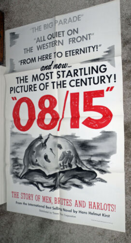 08/15 original 1954 WW2 one sheet movie poster NAZIS/JOACHIM FUCHSBERGER
