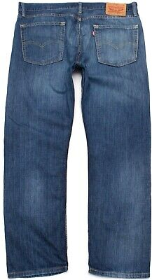 Mens Levis 513 Slim Straight Fit Distressed Jeans Size 36 X 30