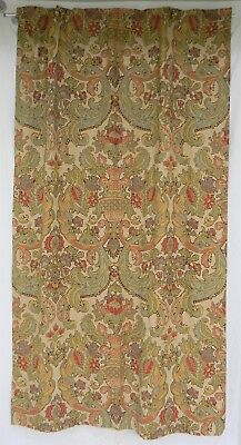 Pottery Barn Simone Curtain panel 50 x 84 pole top with hooks linen cotton lined