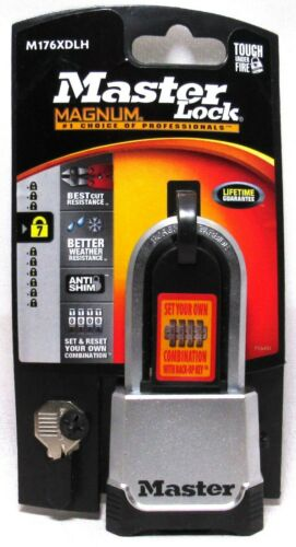 "MASTER LOCK Magnum Set-Your-Own Combination Padlock 2"" With Back-Up Key >NEW<"
