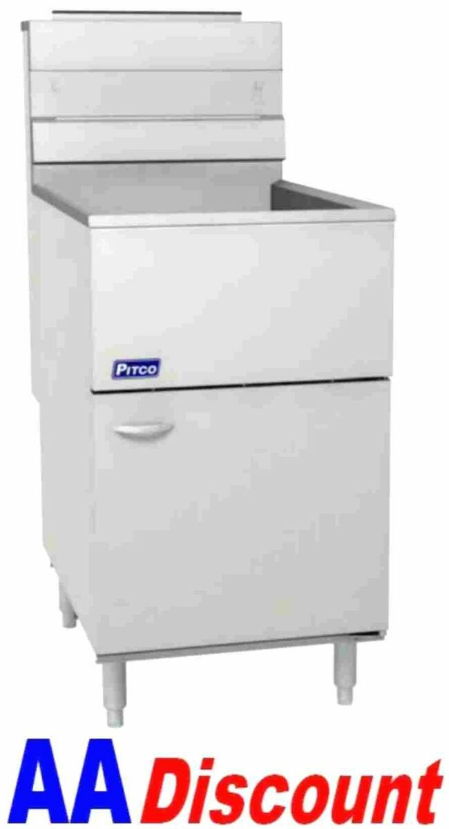 NEW PITCO 65 80 LB GAS DEEP FRYER 65C+S 150,000 BTU WITH STAINLESS