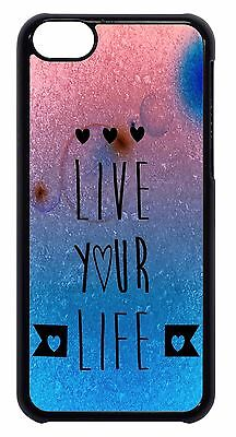 Cute Live Life Inspirational Quote Design Back Case Cover For Apple iPod 4 5 6 - Cute Inspiration
