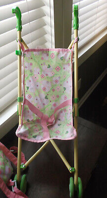 Green/Cream Cabbage Patch Kids Doll Fold Up Stroller Accessory for sale  Brighton