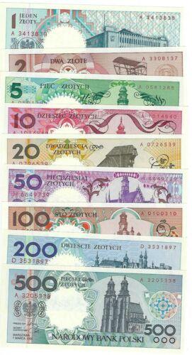 Poland set: 1 - 500 zlotych 1990 (1996) UNC