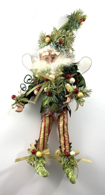 """Mark Roberts Fairy Mistletoe and Holly 13"""" Fairies Christmas Elf Ornament"""
