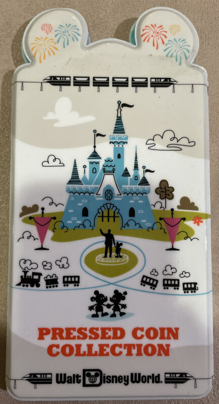 Walt Disney World Pressed Penny Coin Album Book Holds 57 Coins
