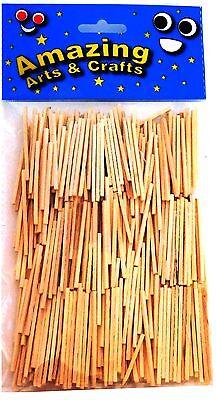 Amazing Arts and Crafts Matchsticks, Natural 500pcs