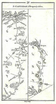 Antique map, Road from Athlone to Castlebar & Newport, by Athlone (2)