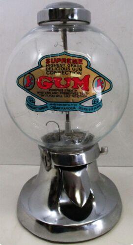 Superior Chrome Bulk Vending Candy Gumball Machine Circa 1930