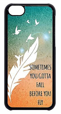 Inspirational Sirens Quote Feather Pattern Cute Case Cover For Apple iPod 4 5 - Cute Inspiration