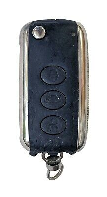 Bentley Keyless Entry Remote FCC KR55WK45032 4 Button Alarm Key Fob Cut Blade