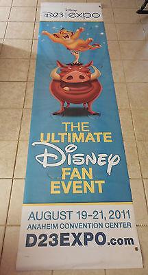 Rare D23 Expo 2011 Event Banner Sign Prop Lion King Disney Disneyland Area