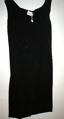 New Womens NWT 10 Italy Designer Dress 46 Paola Frani Black Jersey Crepe Viscose