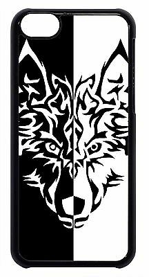 Wolf Teen Art Black White Design Cute Back Case Cover For Apple iPod 4 5 6