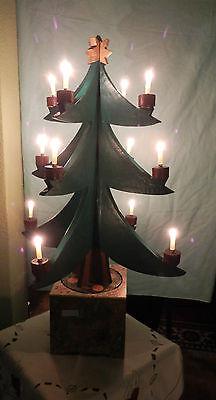 """Weihnachtsbaum elektrisch mechanisch mit Spieluhr Spieldose """"Stille Nacht"""""""