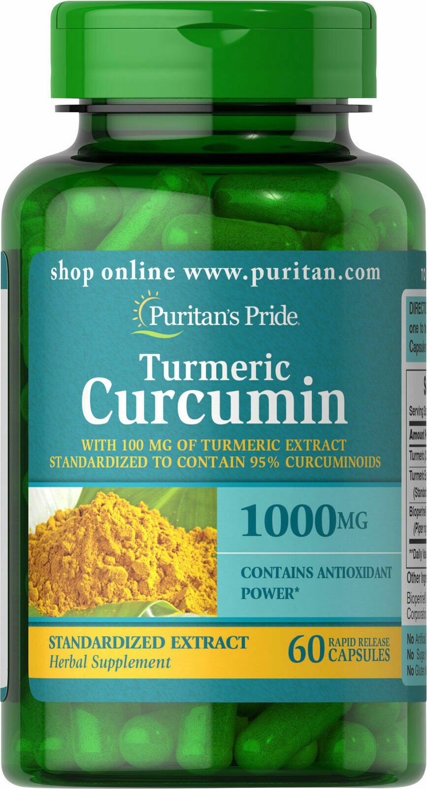 Turmeric Curcumin 1000 mg Standardized Extract with Curcumin