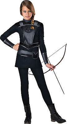 Child Warrior Huntress Robin Hood Hunger Games Costume](Hooded Huntress Child Costume)