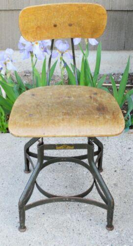 Industrial Adjustable Drafting Chair Toledo Metal Furniture Co.