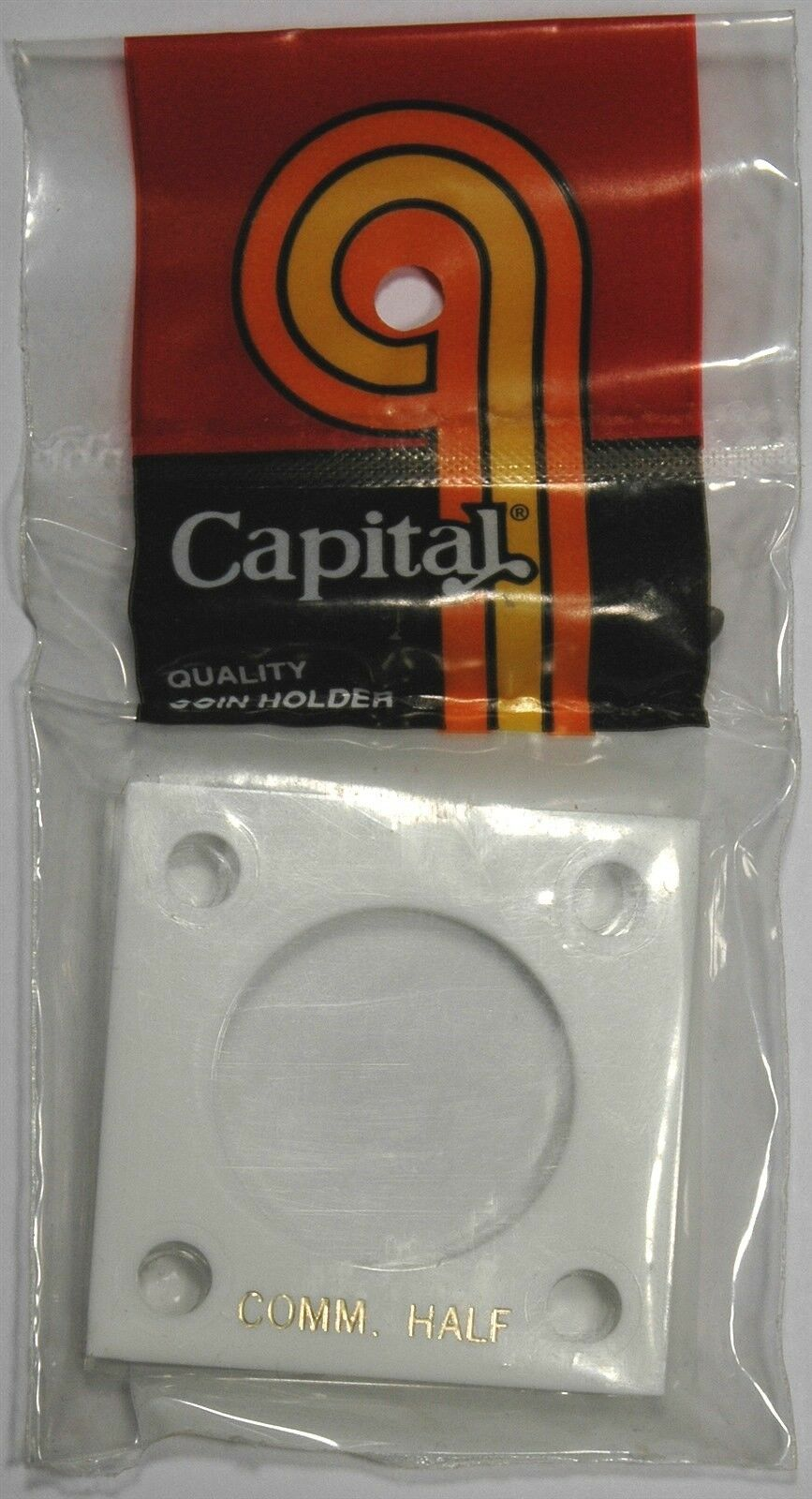 2x2 Capital Holder Plastic Snaplock For Half Dollar $ Coin Black Capsule Display