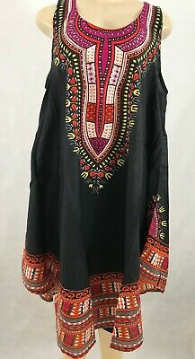 Dashiki Summer Sun Dress Cover Up For Women Free Size