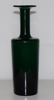Diseño Florero de Cristal Botella Gul ? Vintage Midcentury 60s Otto Brauer