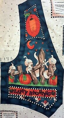 Spooky Halloween Crafts Adults (Spooky Halloween Vest Fabric Panel Adult XL to S Sewing Craft Quick as a Wink)
