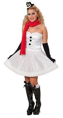 Schneemann Kostüm für Damen 34-44 Schneefrau-Kleid Weihnachtskostüm 121354513