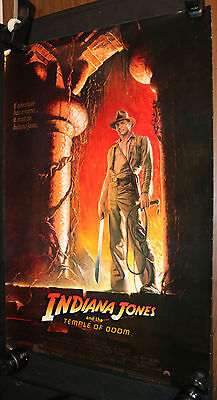 Indiana Jones And The Temple Of Doom Movie Poster   Harrison Ford  C 8  1984