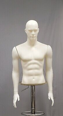 Male Torso Form Mannequin Display Bust Wdetachable Arms Separated Fingers