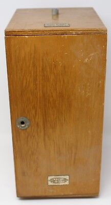 Vintage Wood Olympus Elgeet Optical Microscope H-8 Case Box