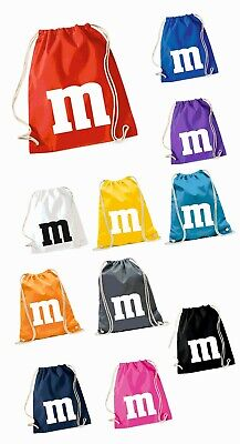 M&M Fans Turnbeutel Gymbeutel Baumwollbeutel Karneval Fasching - M&m Beutel Kostüme