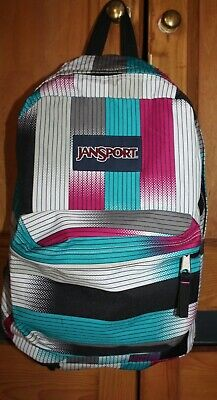 Patterned Jansport Backpack Rucksack in Fab Condition