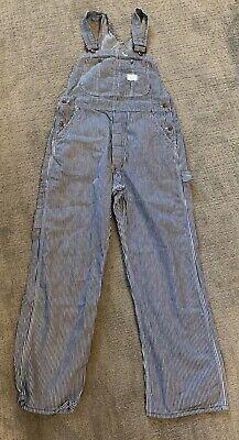 Vintage Overalls & Jumpsuits Vintage Big Mac Square Bak Blue Denim Carpenters Cotton Overalls Mens $30.00 AT vintagedancer.com