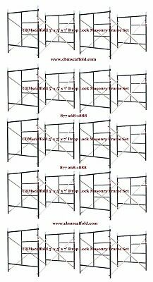 10 Set Of 5 X 5 X 7 Masonry Bj Drop Lock 1.69 Scaffold Frame Set Cbmscaffold