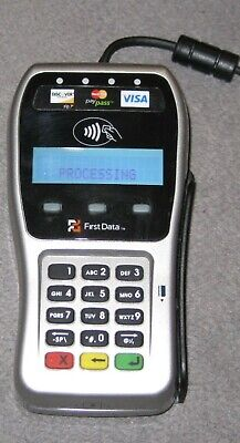 First Data Credit Card Machine Smart Card Reader Model Fd-35 Not Tested - Gc
