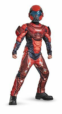New Halo Red Spartan Muscle Child Costume by Disguise 97542 - Halo Red Spartan Kostüm