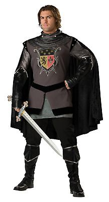 Dark Knight Adult Mens Costume Medieval Renaissance Armor Tunic  (Armored Knight Costume)