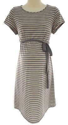 LARGE Sexy Womens STRIPED MATERNITY DRESS W/TIE Summer Vacation Baby Shower